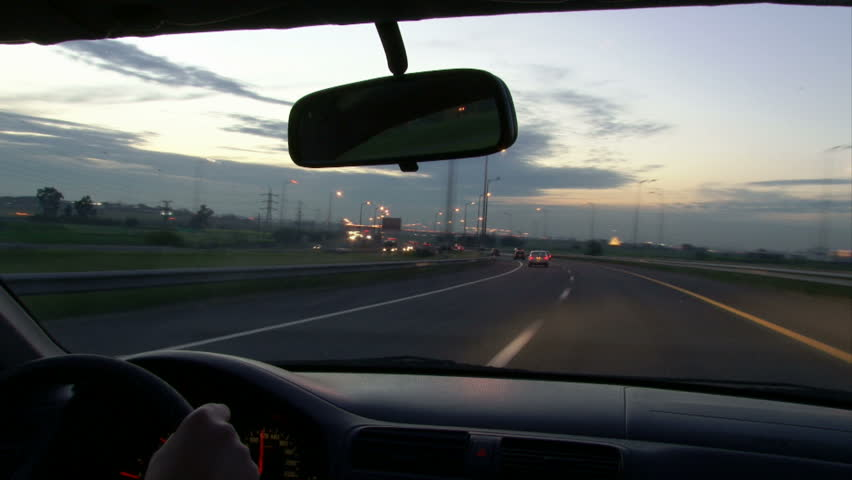 Driving A Car On A Stock Footage Video 100 Royalty-Free -2009