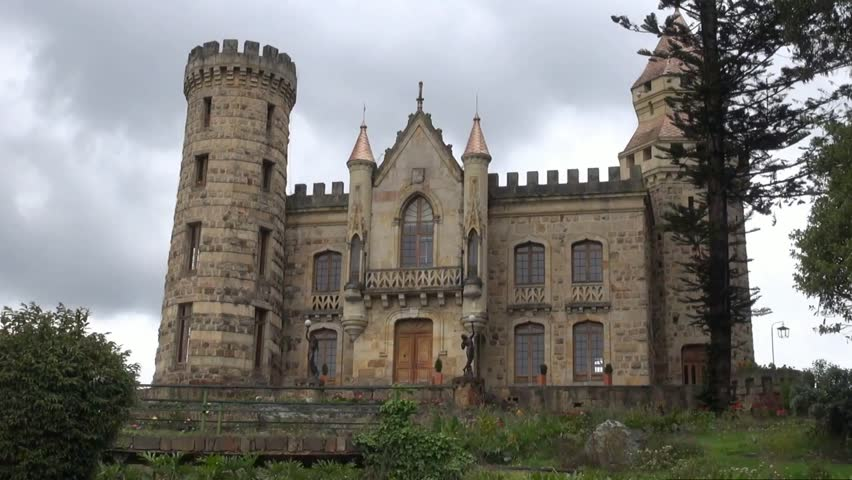 Castle, Old Buildings, Medieval Stock Footage Video (100% ...