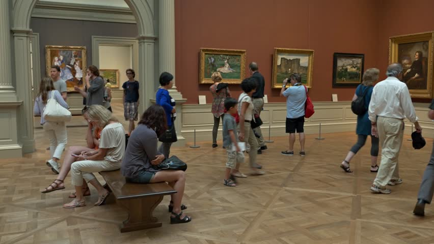 NEW YORK CITY, USA - August 17, 2014: In the Metropolitan Museum of Art in New York City (MET). Here are some of the most important art collections all over the world
