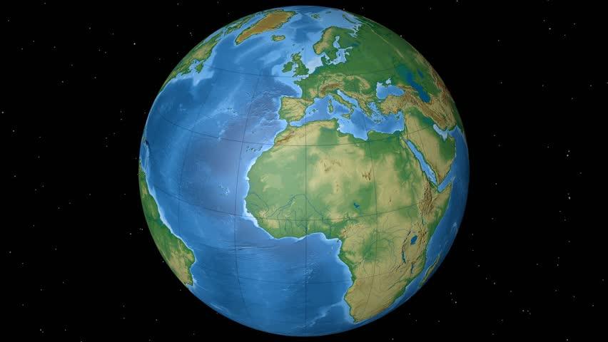 Physical World Globe Equatorial High Resolution Elevation Map - Globe elevation