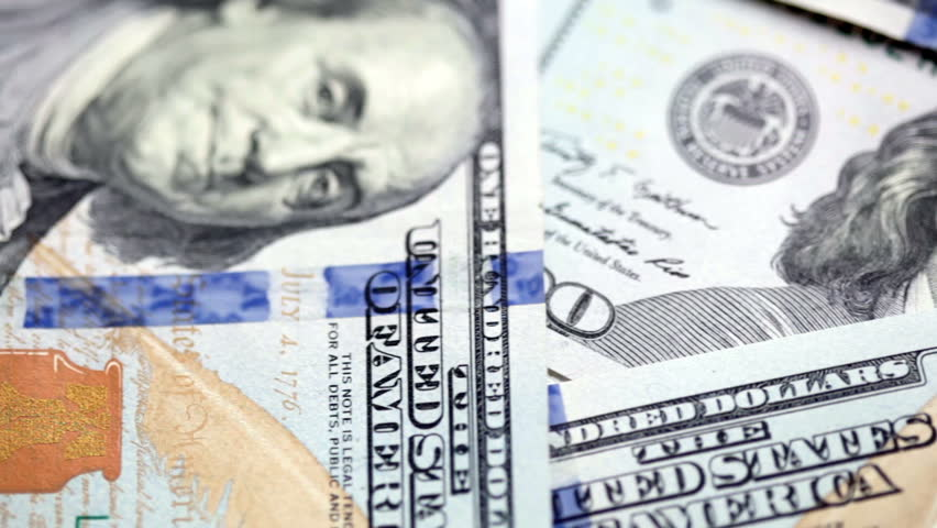 Background from new 100 dollars banknotes. FullHD video   Shutterstock HD Video #7845913