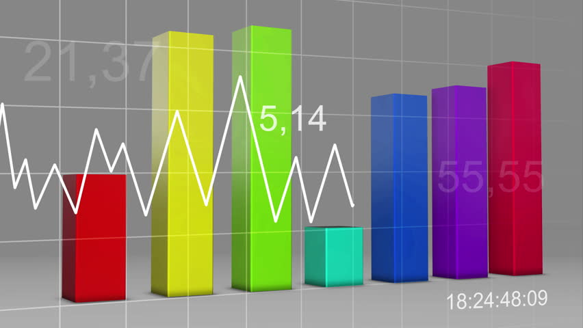 Stock Video Of Multi Color Chart Bar Statistic 3d 7869643
