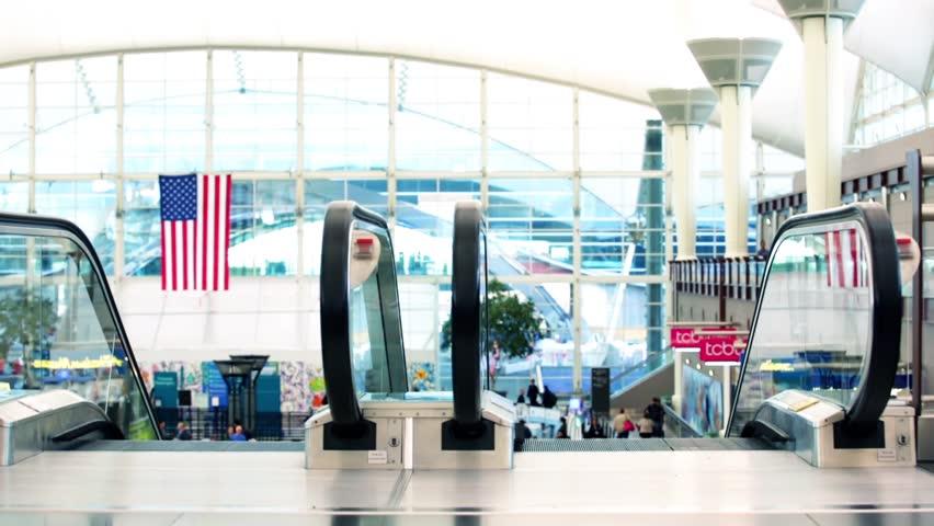 Denver, Colorado, USA-November 2, 2014. Denver International Airport on typical Sunday morning. #7873873