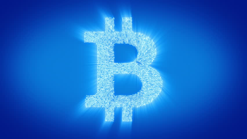 Numbers And Symbols Form A Bitcoin Sign Blue Tint More Color Backgrounds