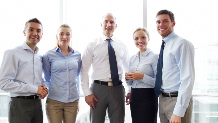 Business, teamwork, people, gesture and technology concept - smiling business team showing thumbs up in office | Shutterstock HD Video #7902133