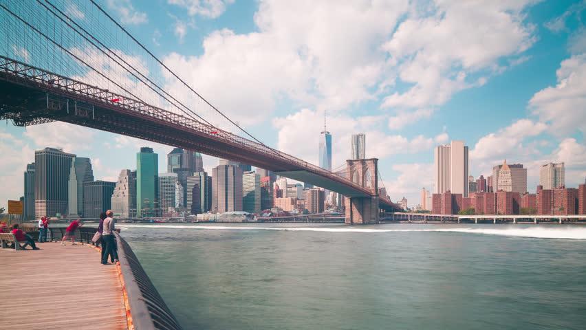 Brooklyn Bridge Bay 4k Day Stock Footage Video 100 Royalty Free