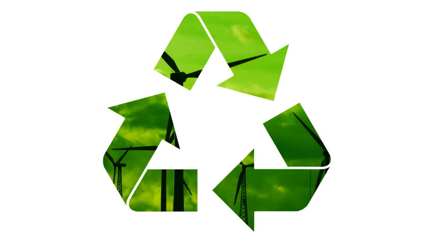 Stock Video Clip Of Recycle Symbol With Alpha Matte Shutterstock