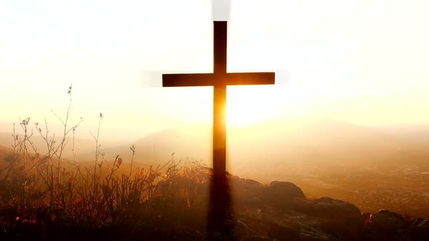 Peaceful Death Symbol Of Cross Stock Footage Video 100 Royalty