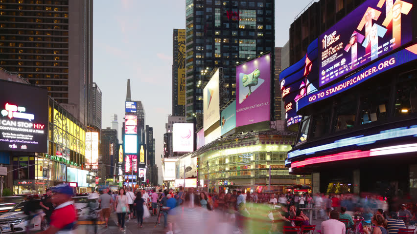 """new york city - september 16: times square broadway with traffic and commercials. September 16"""",2014 in manhattan, new york city #8112757"""