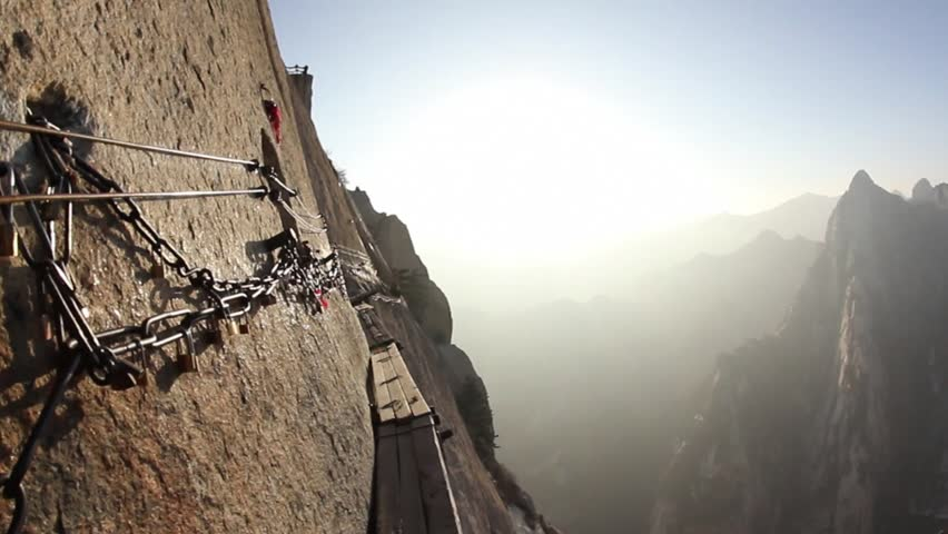 Mount Hua Shan and the Plank Road in the Sky, the world's most dangerous hiking trail