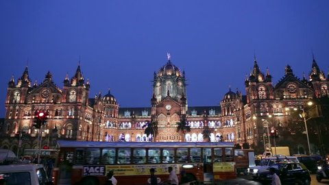 Chhatrapati Shivaji Terminus (CSMT) formerly Victoria Terminus in Mumbai, India is a UNESCO World Heritage Site and historic railway station which serves as the headquarters of the Central Railway.