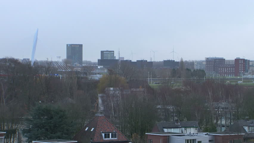 urbanscape utrecht - HD stock footage clip