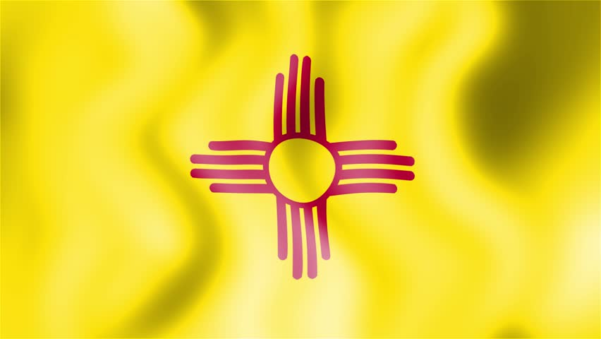 Stock Video Of Hd Waving Flag New Mexico 8220973 Shutterstock