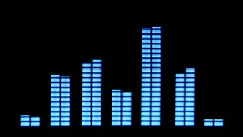 music graphic equalizers and audio analysis clip