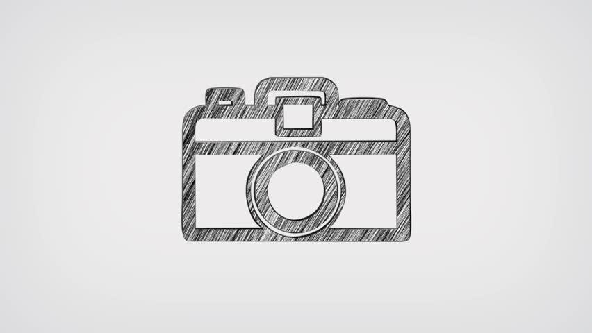 Photo Camera Blueprint Stop Motion Style Animation Stock