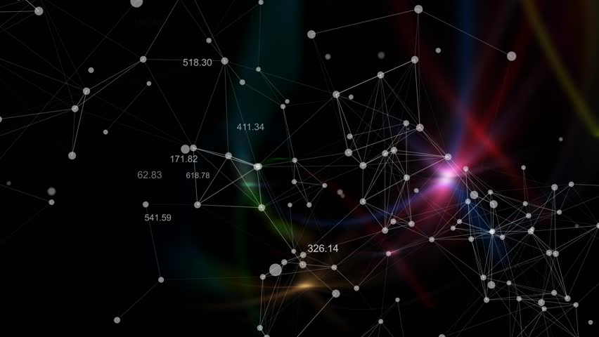Abstract constellation lines dots technology red background | Shutterstock HD Video #8319973