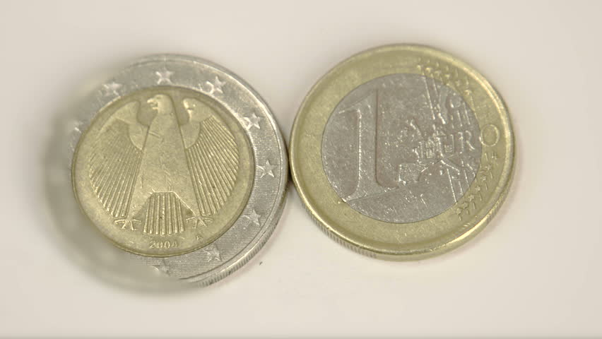 Two Diffe Germany Euro Coins Stock Footage Video 100 Royalty Free 8349343 Shutterstock