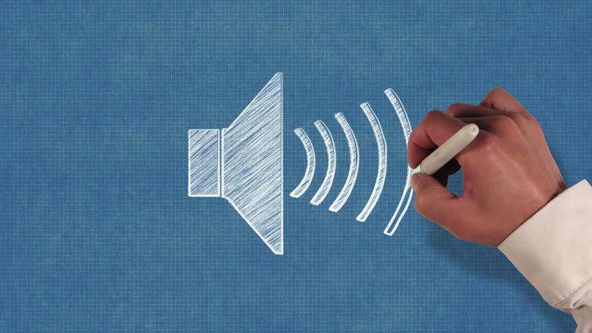 Audio Speaker Blueprint Stop-motion Style Stock Footage Video (100%  Royalty-free) 8374543 | Shutterstock