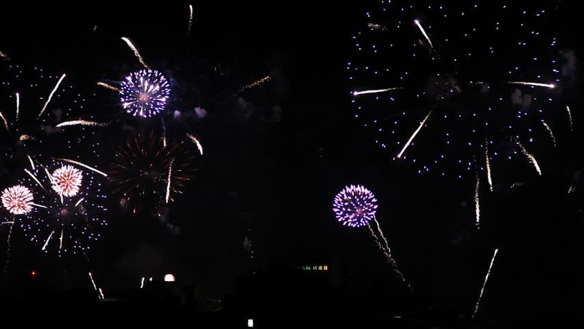 Copacabana Fireworks 2015 New Year Eve | Shutterstock HD Video #8378671
