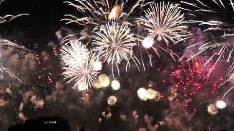Copacabana Fireworks 2015 New Year Eve