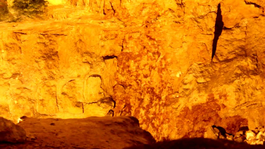 King Solomon's Quarries under Old city at the Damascus Gate .  Zedekiah's  cave. The height of the cavities of the cave is 15 meters, length 300 meters. Jerusalem