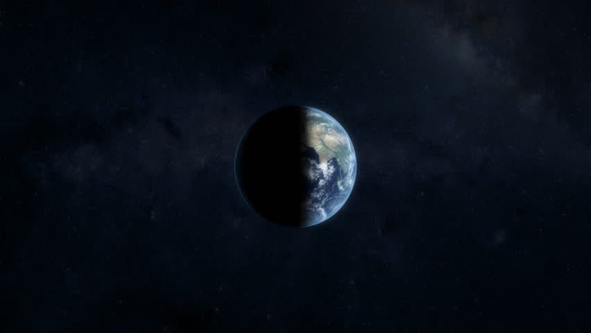 Zooming into earth. 3D animation.
