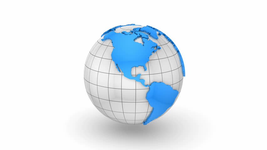 3d world globe 4k animation seamless loop white background stock world map turns into a globe white background loop created in 4k gumiabroncs