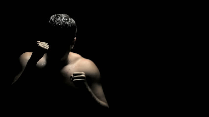 Boxer in Dark Throwing Flurry Stock Footage Video (100% Royalty-free)  841333 | Shutterstock