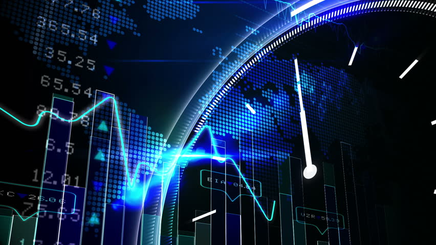 Digital animation of Blue stocks and shares technology screen | Shutterstock HD Video #8414803