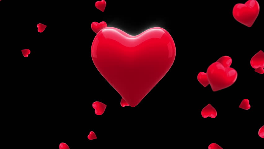 digital animation of red heart thumping on black background hd stock video clip - Valentines Day Videos