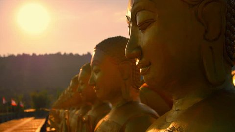 Memorial Park Buddhism in Nakhon Nayok City, Thailand : Dolly Shot