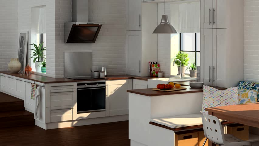 Interior Animation Kitchen Stock Footage Video 100 Royalty Free