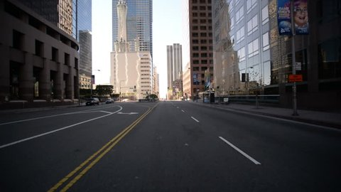 Driving Plates Los Angeles Downtown Morning CAM1 Front 10 Grand Ave South at 3rd St California USA