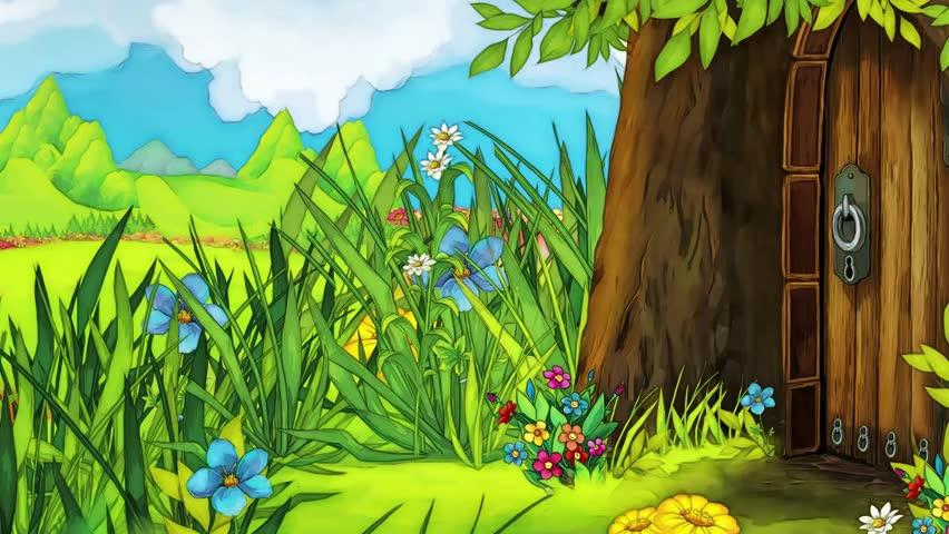 Scrolling Scene For Fairy Tale Stock Footage Video 100
