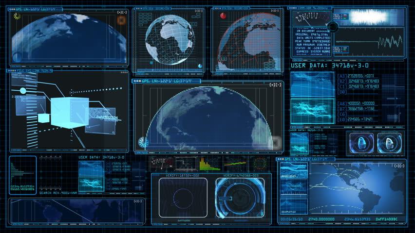 Technology Interface Computer Data Screen GUI 4K | Shutterstock HD Video #8506633