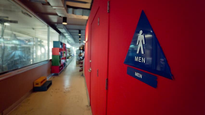 Bathroom Signs Video restroom sign stock footage video | shutterstock