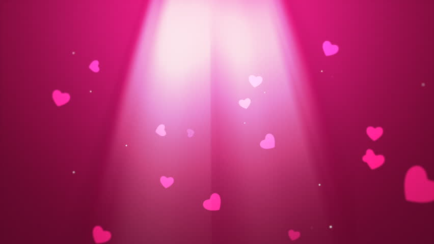 Valentines video background with white light rays and falling hearts emphasizing love and romance can be used for placement of copy or as a design element | Shutterstock HD Video #8695108