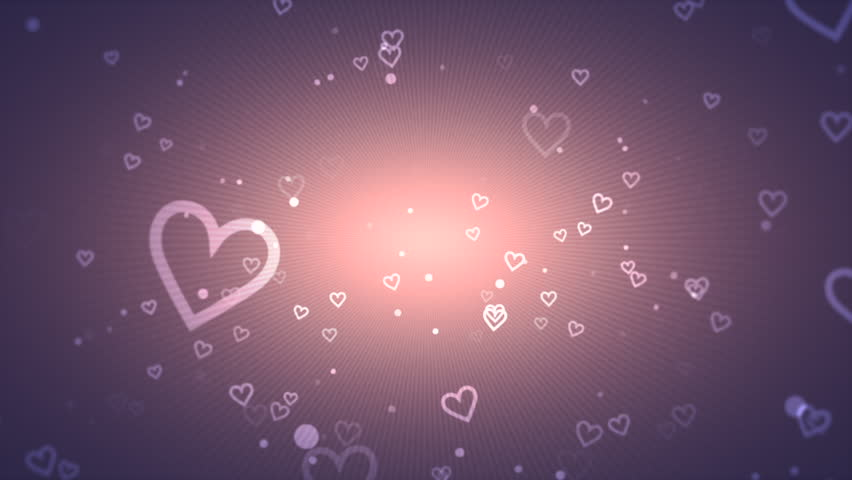 Pastel Valentines video background with radiating hearts signifies love and romance and can be used as a backdrop or design element.	 | Shutterstock HD Video #8695123