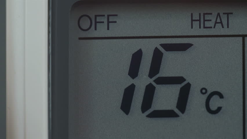 The heater temperature going up from 16 to 30 degree celcius