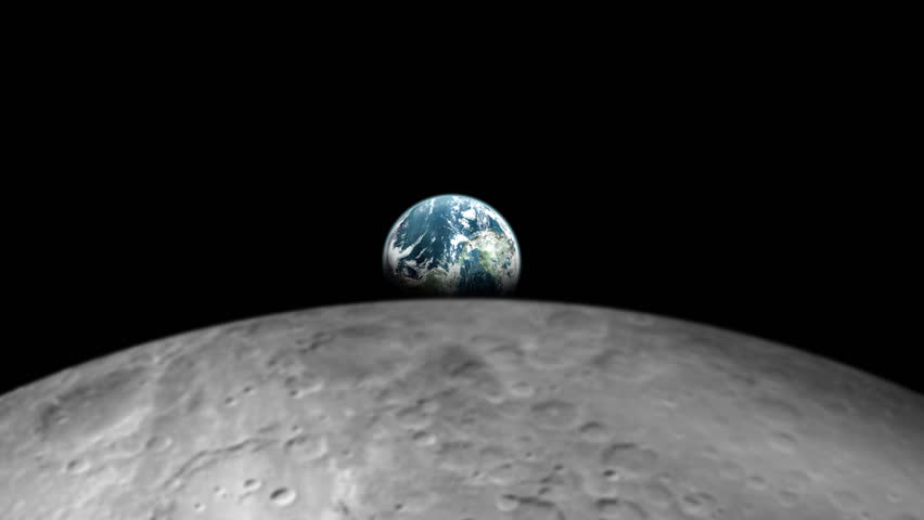 Picture of earth from the moon surface