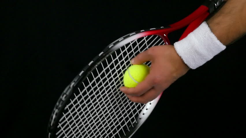 titillating tennis player can't believe the size of his racket  85368