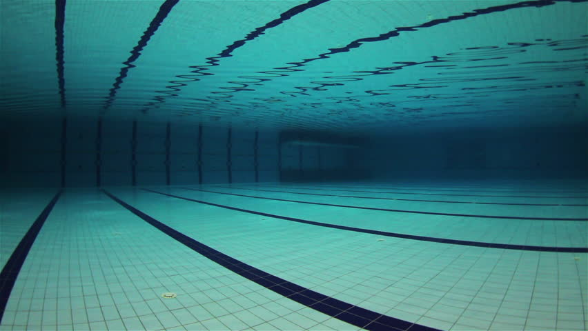 empty olympic swimming pool underwater wide angle
