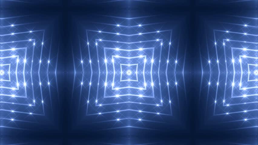 Fractal blue kaleidoscopic background. Background motion with fractal design. Disco spectrum lights concert spot bulb. More sets footage  in my portfolio. | Shutterstock HD Video #8737993