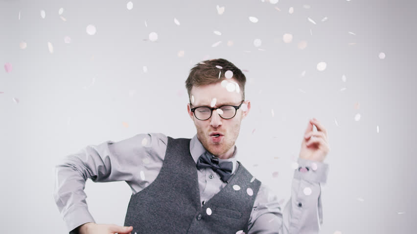 funny geek guy slow motion wedding photo booth series