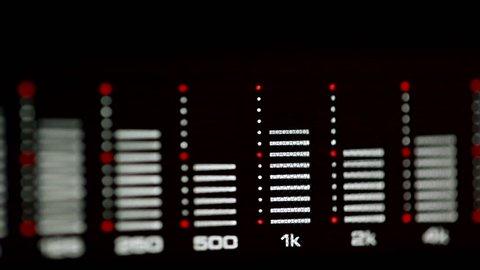 Sound level meter equalizer display