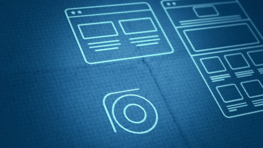 Stock video of stylized interface design process blueprint animation stock video of stylized interface design process blueprint animation 8801503 shutterstock malvernweather Choice Image