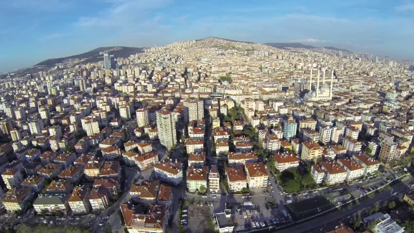 Maltepe, Asian Side in Istanbul. Aerial view of the transcontinental city, a city occupying portions of more than one continent.