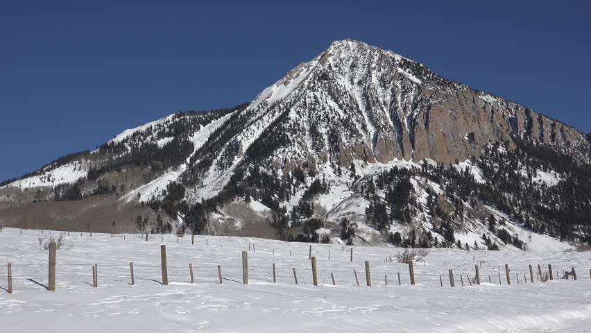 Crested Butte Mountain Pan/ A look at the mountain in good light.