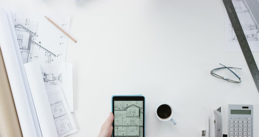 Top View Architect Designing Connected Stock Footage Video 100 Royalty Free 8885473 Shutterstock