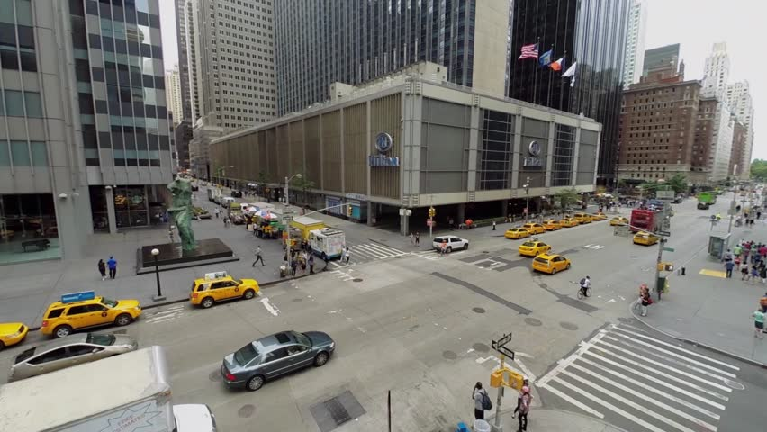 New york aug 23 2014 city traffic on avenue of the americas new york aug 23 2014 city traffic on avenue of the americas near hilton midtown manhattan hotel at summer day aerial view price for room starts from sciox Image collections